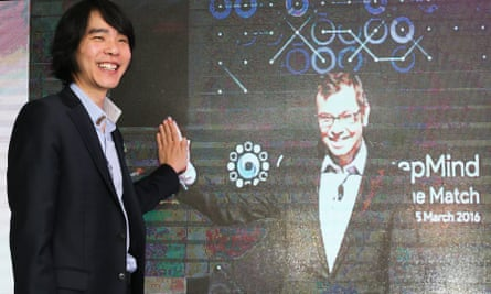 Expert go player Lee Se-dol 'connects' with a digital version of Demis Hassabis, CEO of Google's DeepMind. Hassabis says Se-dol sounds very confident about winning - but only because he hasn't seen DeepMind's most recent progress