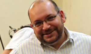 The Iranian-American journalist Jason Rezaian is seen at a press conference in Tehran in 2013.