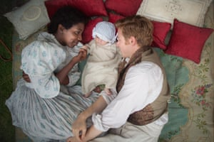 Tamara Lawrance and Jack Lowden in The Long Song.