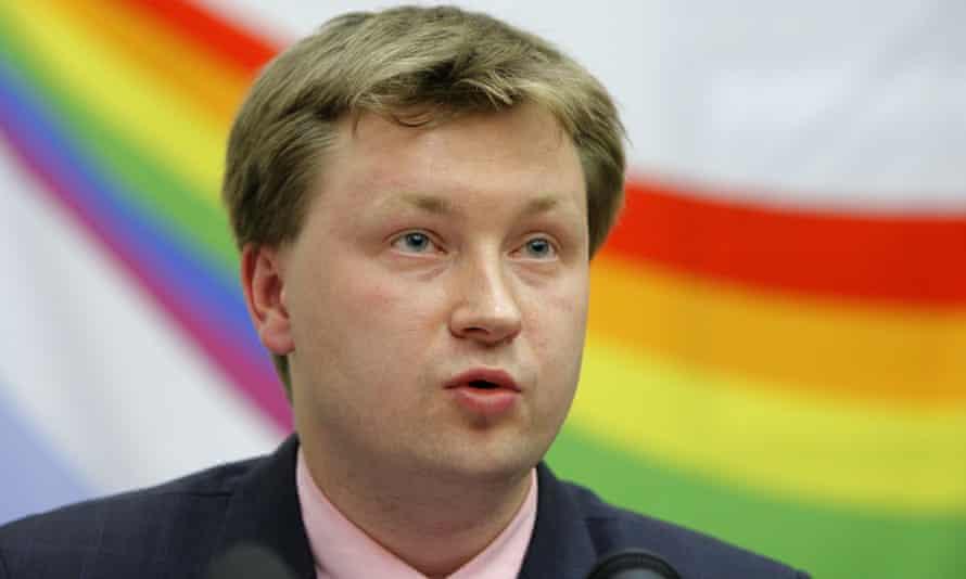 Russian LGBT rights activist Nikolai Alexeyev.
