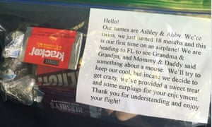 baby crying plane goody bags
