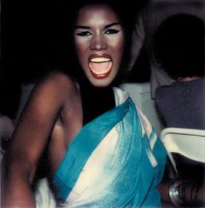 Polaroid of Grace Jones
