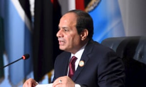 The Egyptian president, Abdel Fatah al-Sisi.