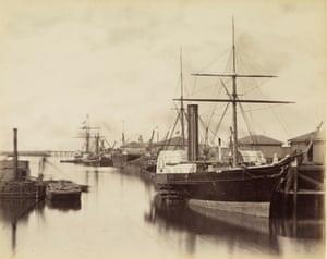 Ships in Granton Harbour, near Edinburgh, 1860s