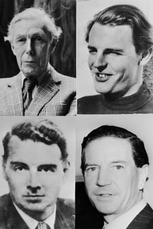 Anthony Blunt, Donald Duart Maclean, Kim Philby and Guy Burgess