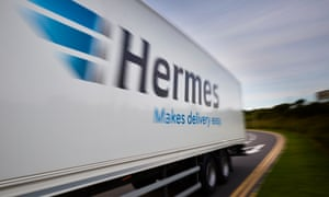 A Hermes lorry.