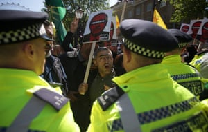 London, England Demonstrators protest