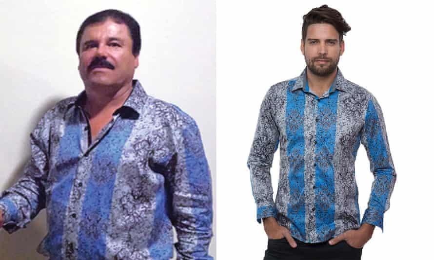 El Chapo Guzmán shirt Barabas boutique Los Angeles