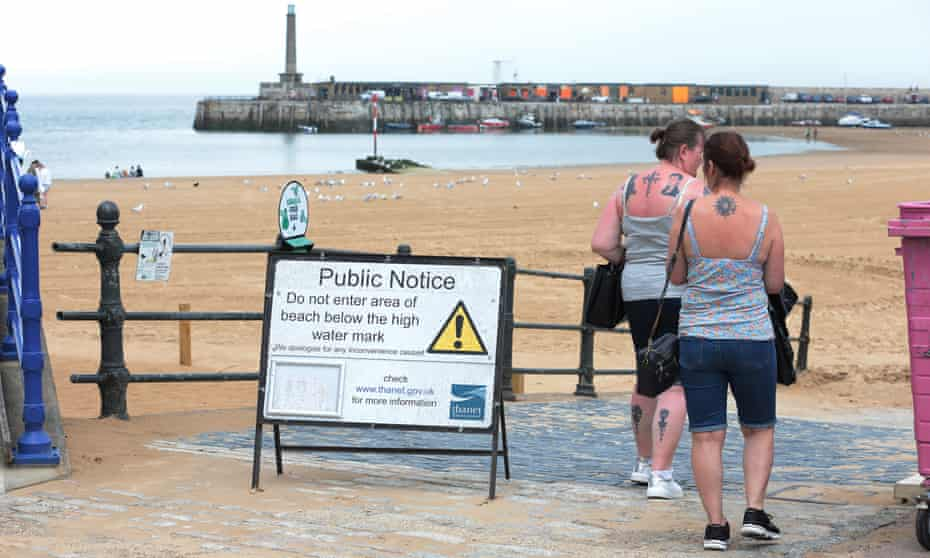 Leaks from treatment plants closed beaches in Thanet, Kent for several days in June.
