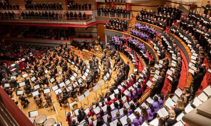 Stirring … the crammed auditorium of Symphony Hall, Birmingham.