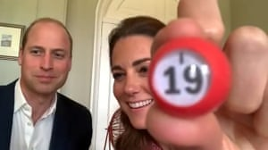 William and Kate with bingo ball
