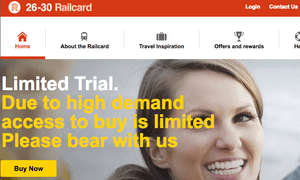 The railcard must be bought online and downloaded to a smartphone.