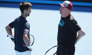 Boris Becker and Novak Djokovic during their three years together as player and coach. The former world No1 will be working with Andre Agassi at the French Open next week.