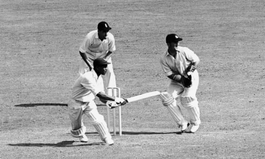 Everton Weekes batting for the West Indies during the Third Test against England at Trent Bridge in Nottingham, 22 July 1950