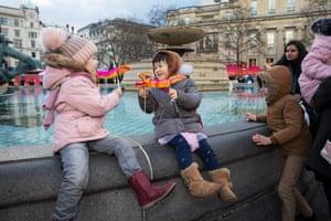 Children in Trafalgar Square
