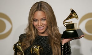 Beyonce with Grammys
