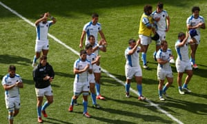 Uruguay applaud the supporters at Villa Park, but it was another heavy defeat for the South Americans against Australia.