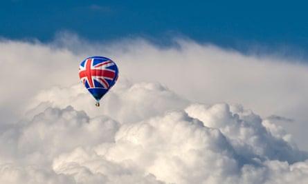Union Jack hot air balloon