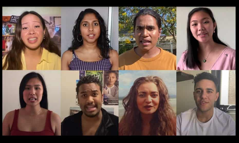 I Need You To See Me image. Composite of people involved in Australian musical theatre initiative to showcase diverse talent.