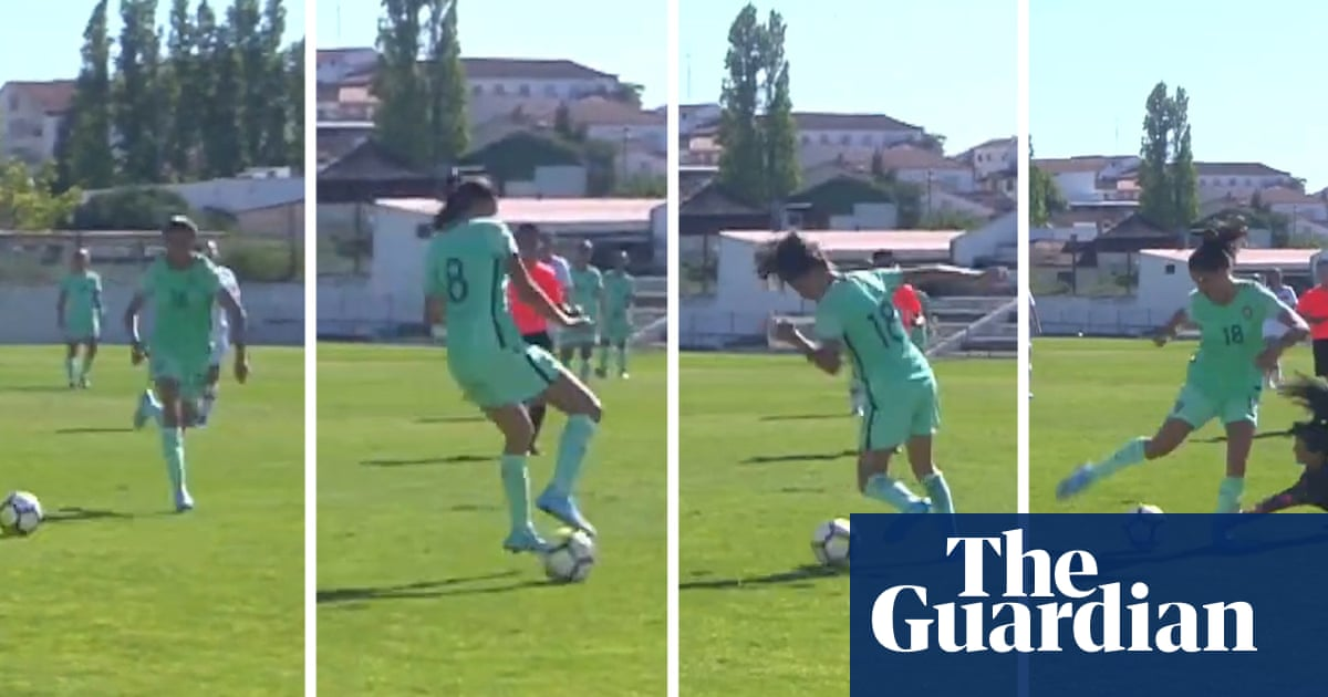 Zidanesque: roulette round the keeper for stunning goal in Portugal U-19s match – video