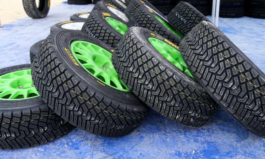 Rally car tyres