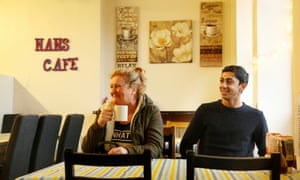 English cricket's rising star, Haseeb Hameed, was photographed in Nan's Cafe in Farnworth, near Bolton