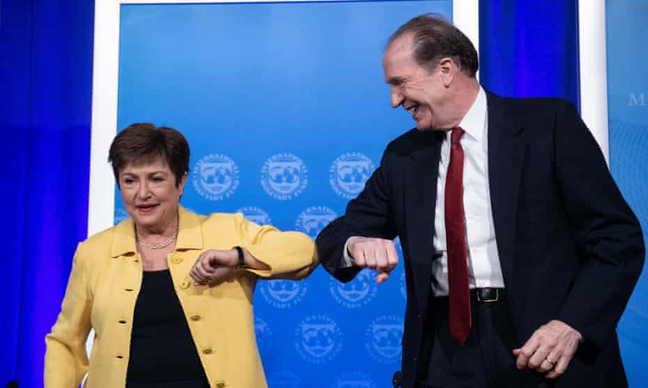 Kristalina Georgieva, the IMF managing director, and David Malpass, the World Bank group president
