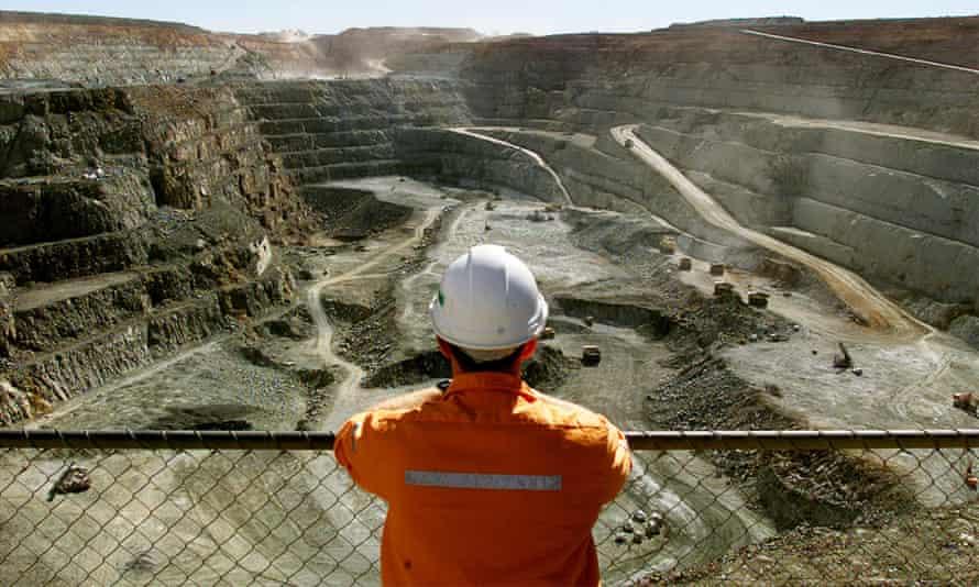 An open pit gold mine in Australia