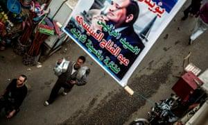 Posters supporting Abdel Fatah al-Sisi