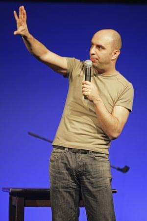 Serdar Somuncu, who performs satirical readings of Mein Kampf in Germany.