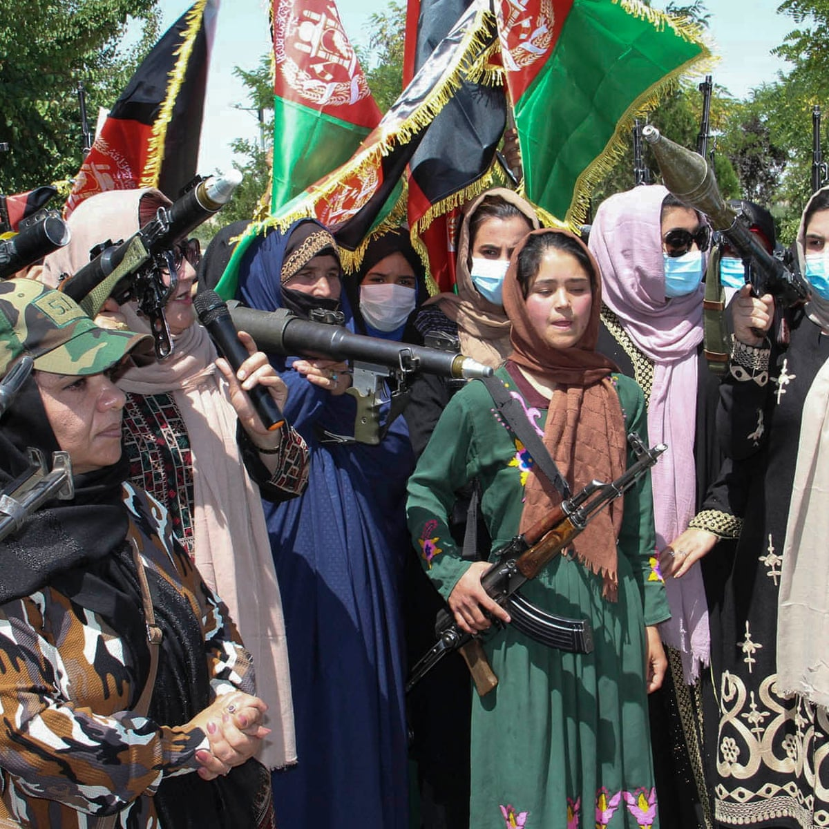 Armed Afghan women take to streets in show of defiance against Taliban |  Afghanistan | The Guardian
