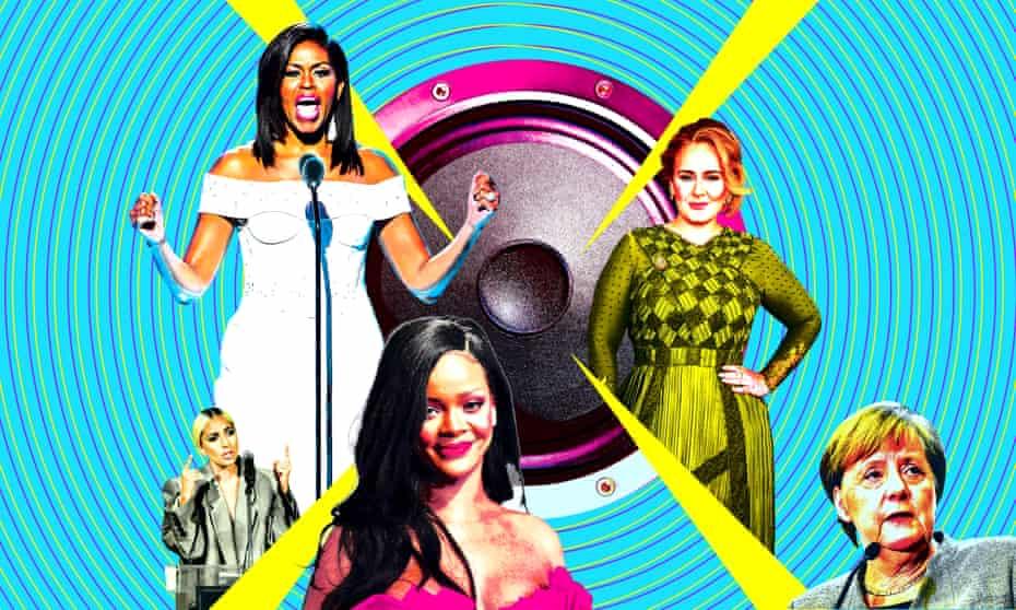 Lady Gaga, Michelle Obama, Rihanna, Adele and Angela Merkel