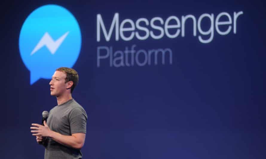 Mark Zuckerberg launching Messenger in 2015