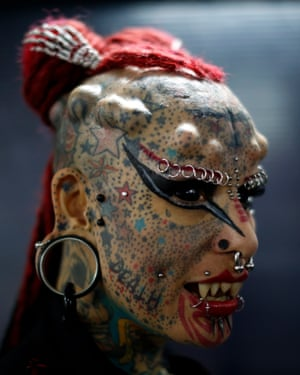 Mexican body modification and tattoo artist Maria Jose Cristerna, AKA Vampire Woman