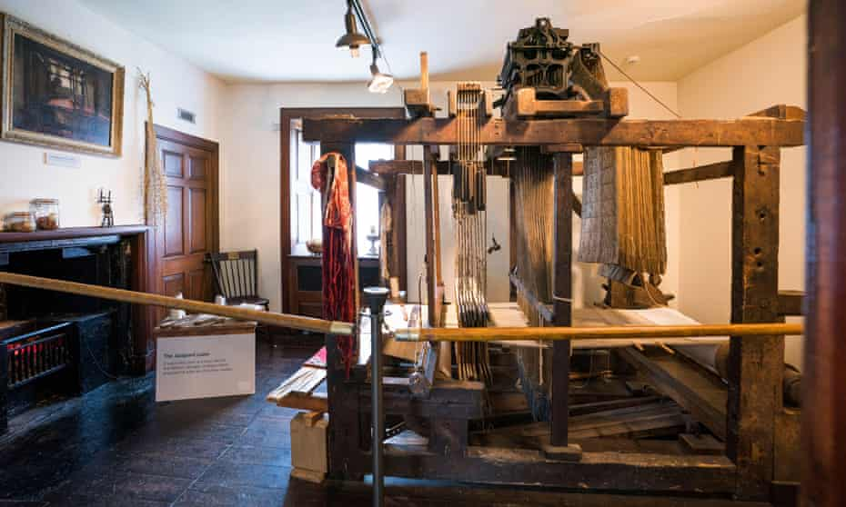 The family loom inside Andrew Carnegie's birthplace, Dunfermline.