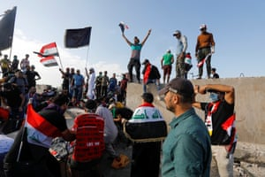 Protesters in Baghdad, Iraq