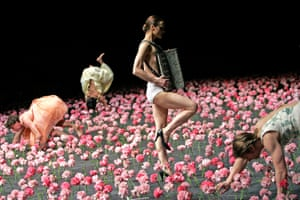 'Breathtakingly poignant blanket of pink carnations' … Nelken by Pina Bausch for Tanztheater Wuppertal, Sadler's Wells, 2005.