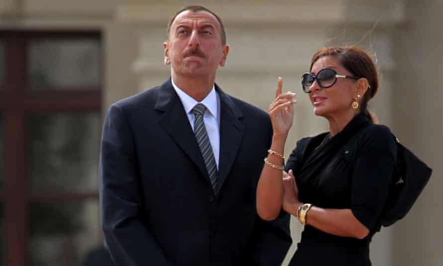 The Azerbaijani president, Ilham Aliyev and his wife, Mehriban.