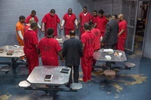 The session in the male cell block was conducted by inmates.