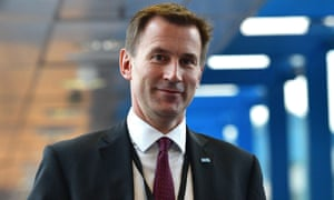 Jeremy Hunt arrives for the fourth day of the Conservative Party Conference 2016
