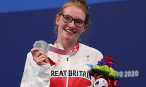 Becky Redfern with her silver medal.