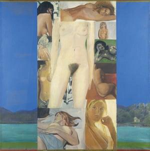 It's a Man's World II, 1964/5, oil on canvas, by Pauline Boty.