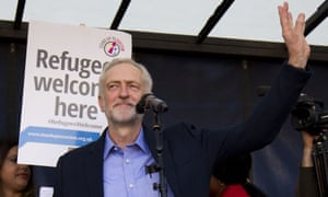 Jeremy Corbyn told the Solidarity with Refugees rally that wars don't end when the last bullets are fired.