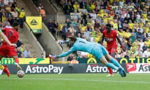 Ismaila Sarr scores the third for Watford.