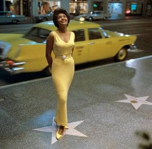 Jazz singer Nancy Wilson on Hollywood Boulevard in 1963.