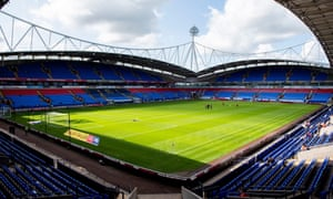 The University of Bolton Stadium, home of the Championship club Bolton Wanderers