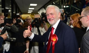 Jeremy Corbyn arrives at the count.