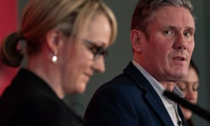 Keir Starmer, Rebecca Long-Bailey and Lisa Nandy at a hustings for members in Brighton Photo SEAN SMITH