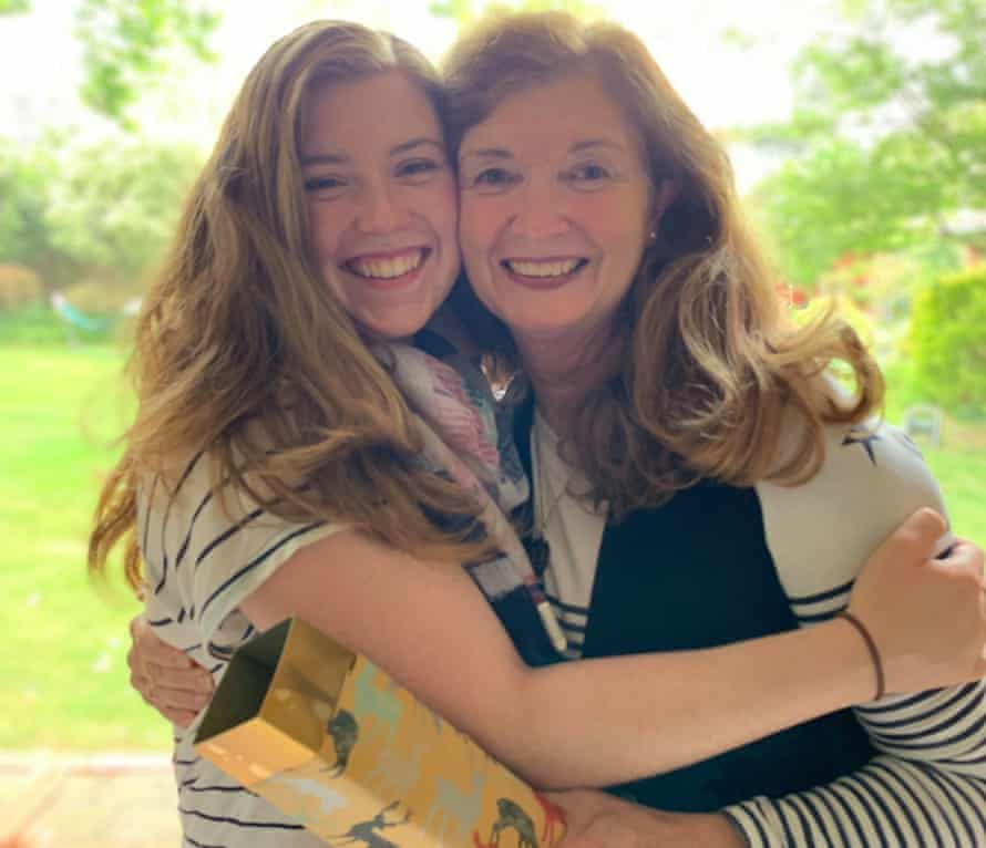 Bronwyn Young reunited with her daughter Rebel O'Connor.