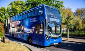Bluestar bus services in Southampton